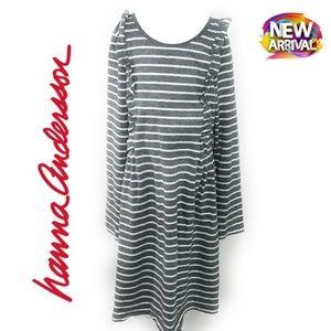 HANNA ANDERSSON Long Sleeve Stripes Dress
